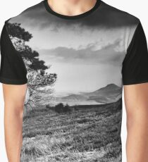 Lone Tree and Eildons, Scottish Borders Graphic T-Shirt