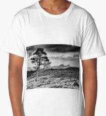 Lone Tree and Eildons, Scottish Borders Long T-Shirt