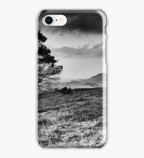 Lone Tree and Eildons, Scottish Borders iPhone Case/Skin