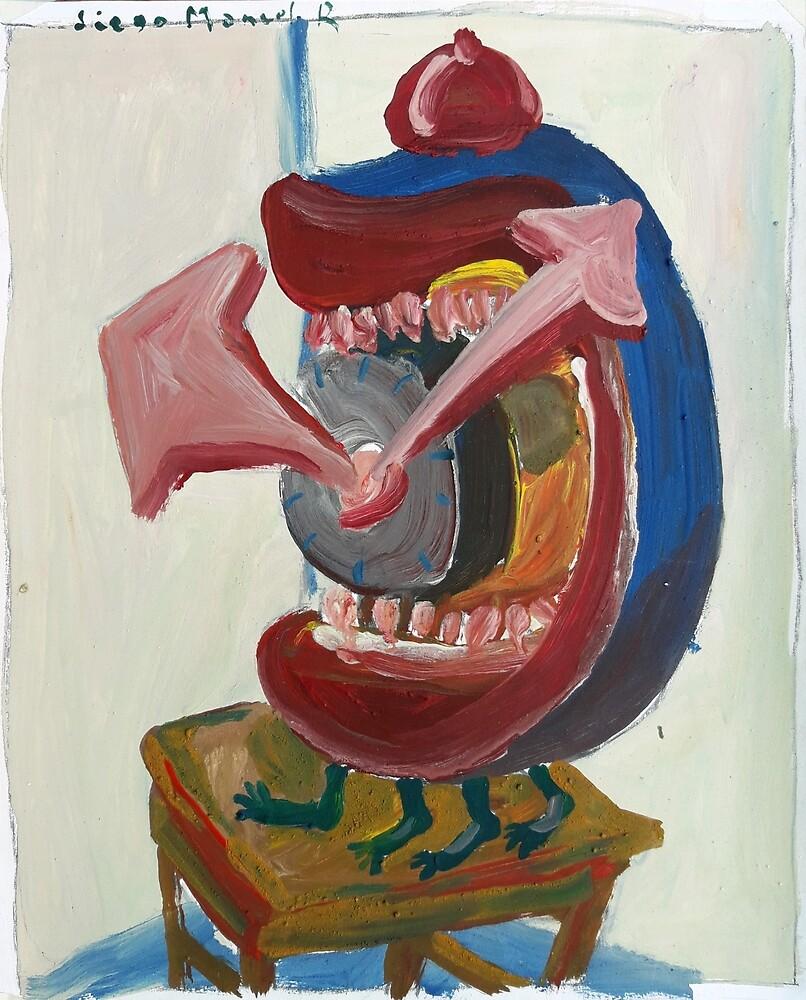 Watch with teeth by Diego Manuel Rodriguez