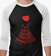 Lobster Dominance Hierarchy - Fire Red  Men's Baseball ¾ T-Shirt