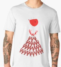 Lobster Dominance Hierarchy - Fire Red  Men's Premium T-Shirt