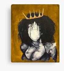 Naturally Queen I GOLD Canvas Print