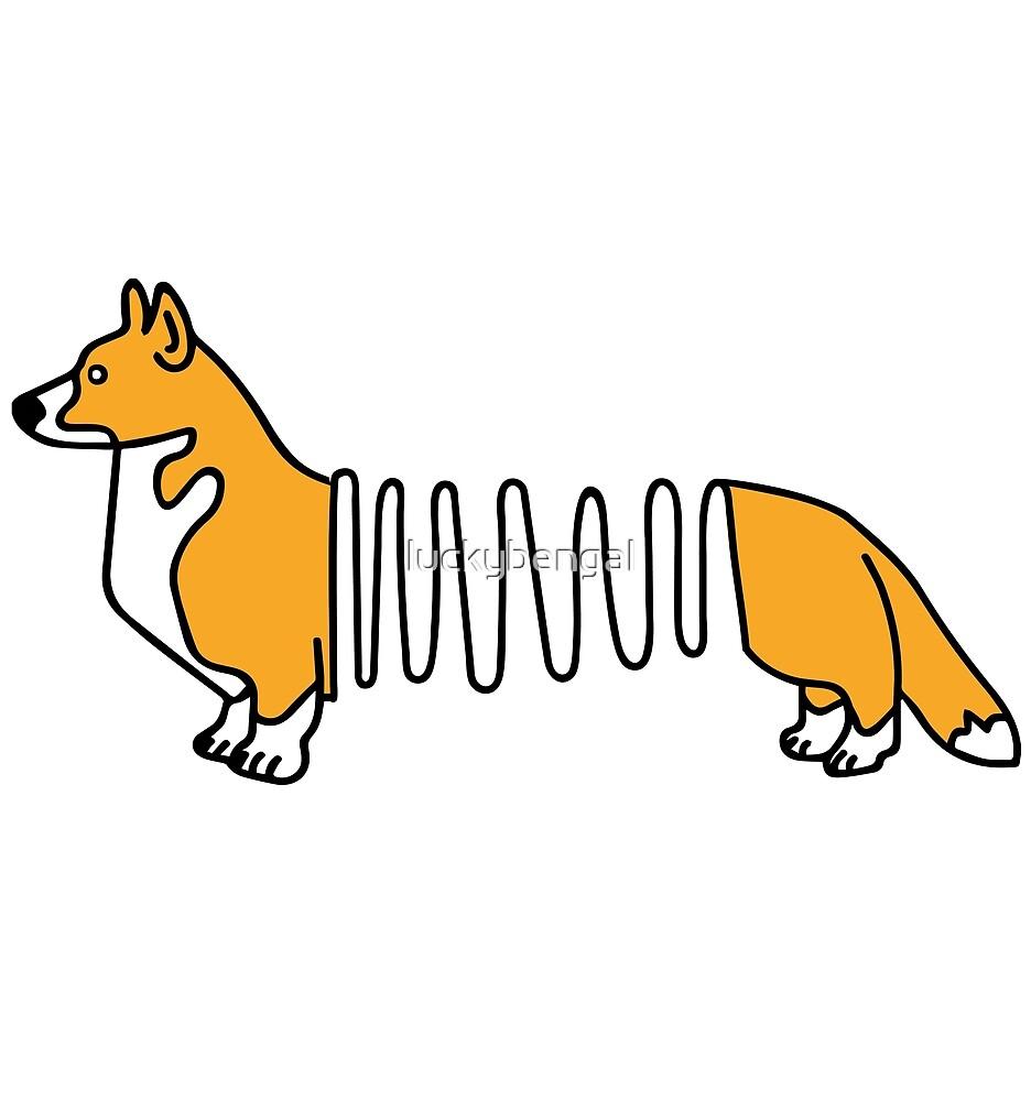 Funny Corgi Dog Slinky by luckybengal