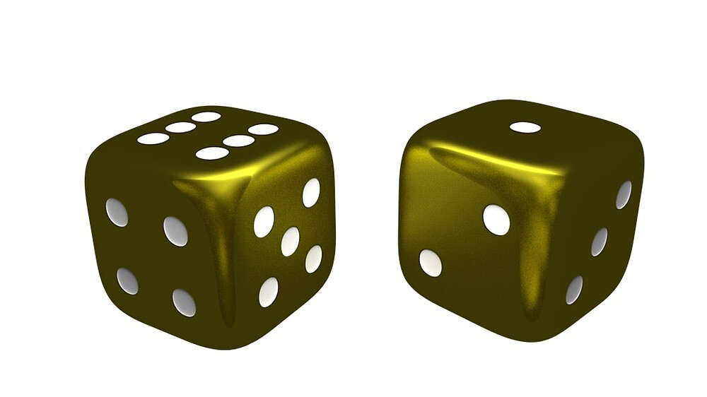 Golden Dice by prodesigner2