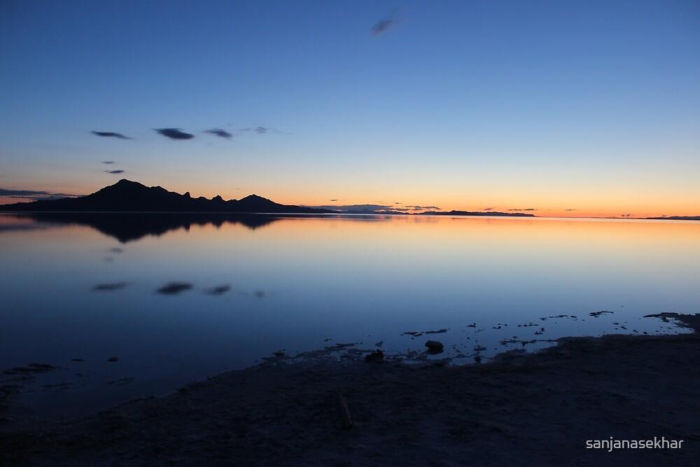 Sunrise at Bonneville Salt Flats, UT by sanjanasekhar
