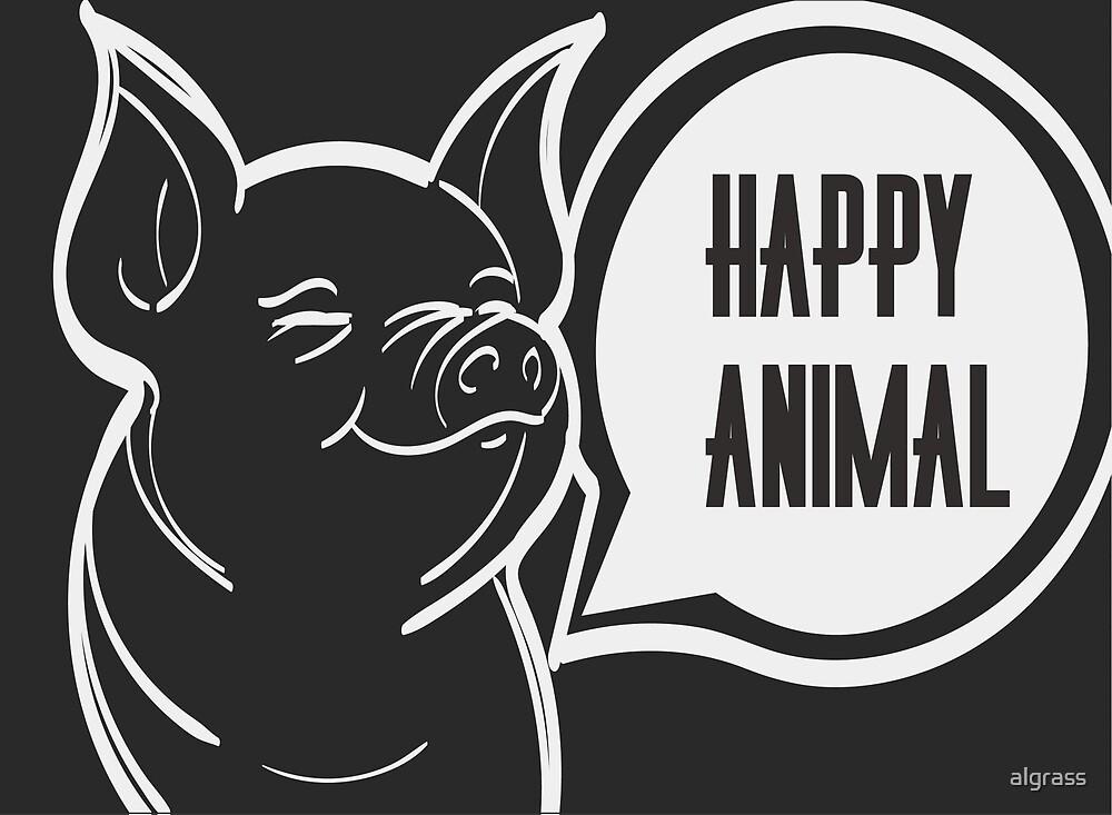 Happy animal design by algrass
