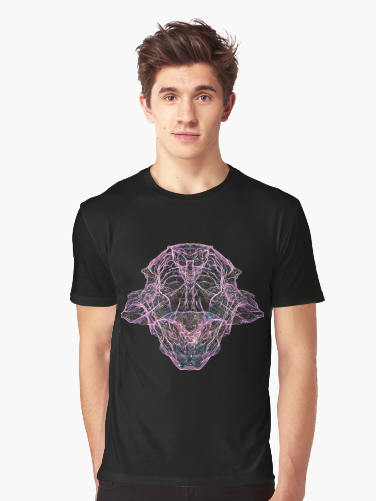 Hologram abstraction Graphic T-Shirt Front