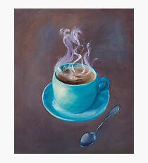 Hot Steamy Coffee Photographic Print