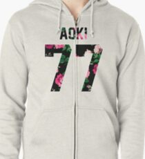 Steve Aoki - Colorful Flowers Zipped Hoodie