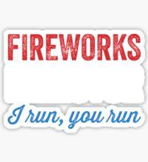 Fireworks director I run you run Sticker