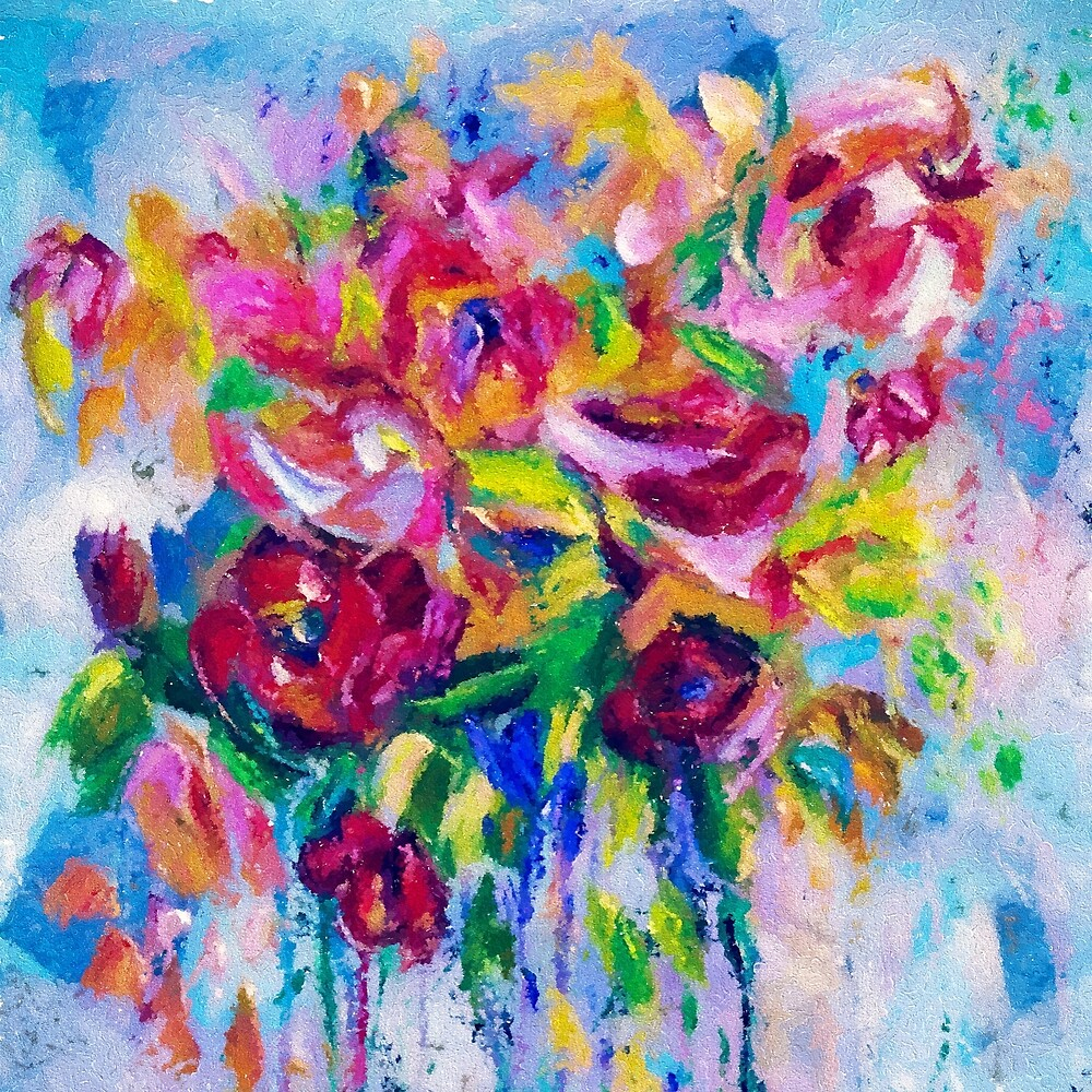 Floral Abstract by Lena Owens by LENA OWENS @OLena Art