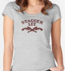 Stagger Lee - Crossed Pistols Edition Women's Fitted Scoop T-Shirt