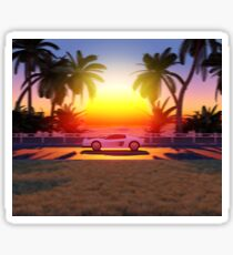Sunset Drive Sticker