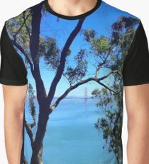 View of the Golden Gate Bridge from Lincoln Park Graphic T-Shirt