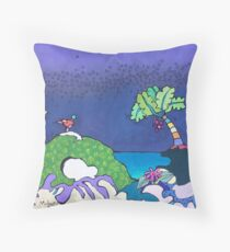 Plum Storm Throw Pillow