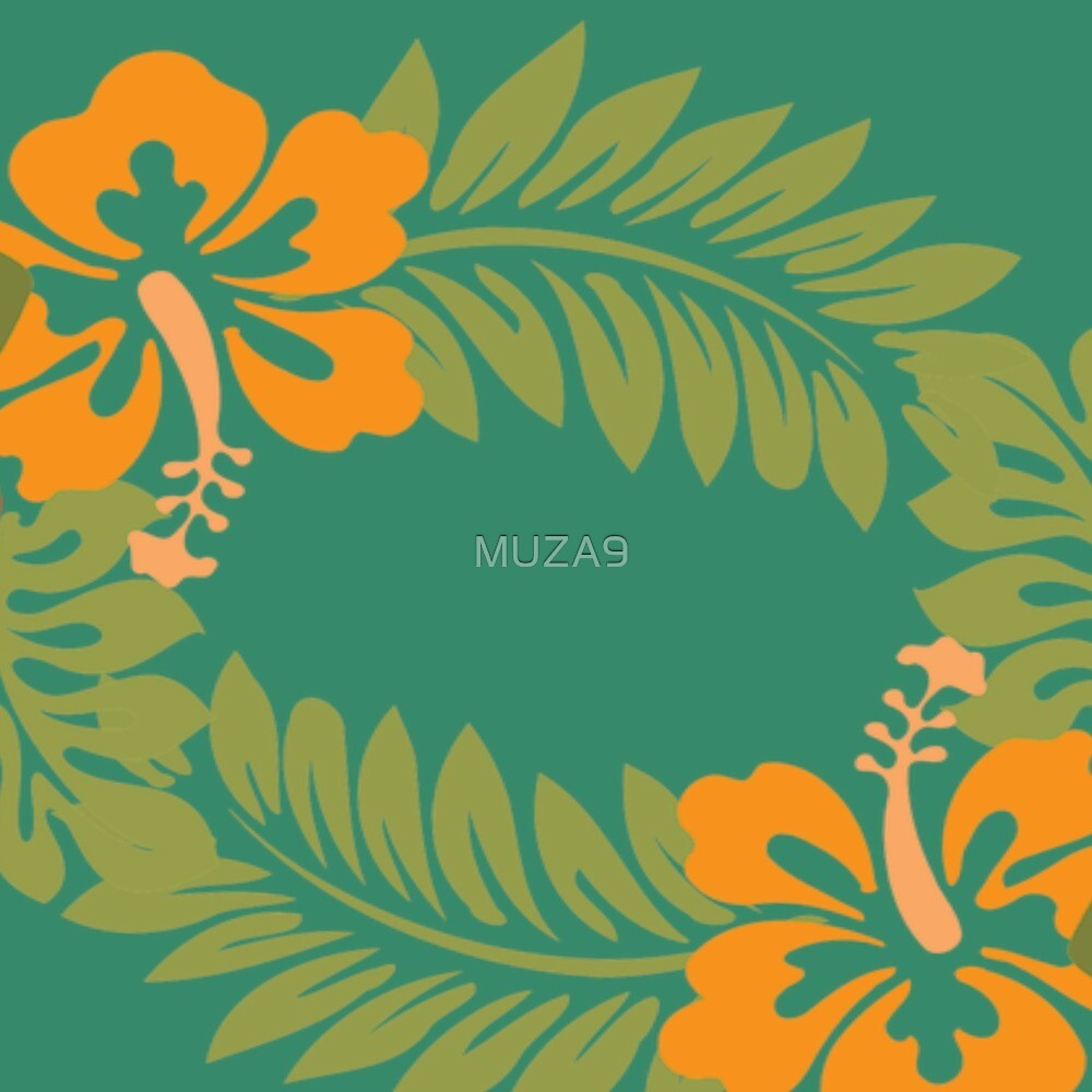 Orange Hibiscus by MUZA9