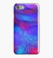 Space storm alcohol ink art iPhone Case/Skin