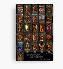 Steampunk - Alphabet - Complete Alphabet Canvas Print