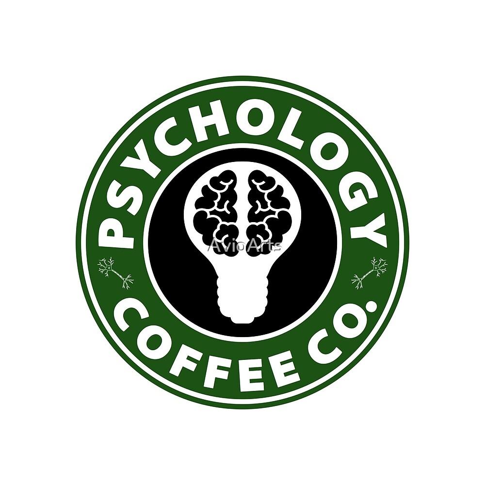 Psychology Coffee Co. (Brain) by AvioArts