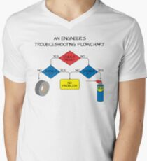 Engineering Flowchart Men's V-Neck T-Shirt