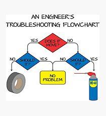 Engineering Flowchart Photographic Print