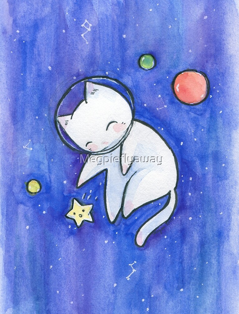 Space Cat by Megpieflyaway
