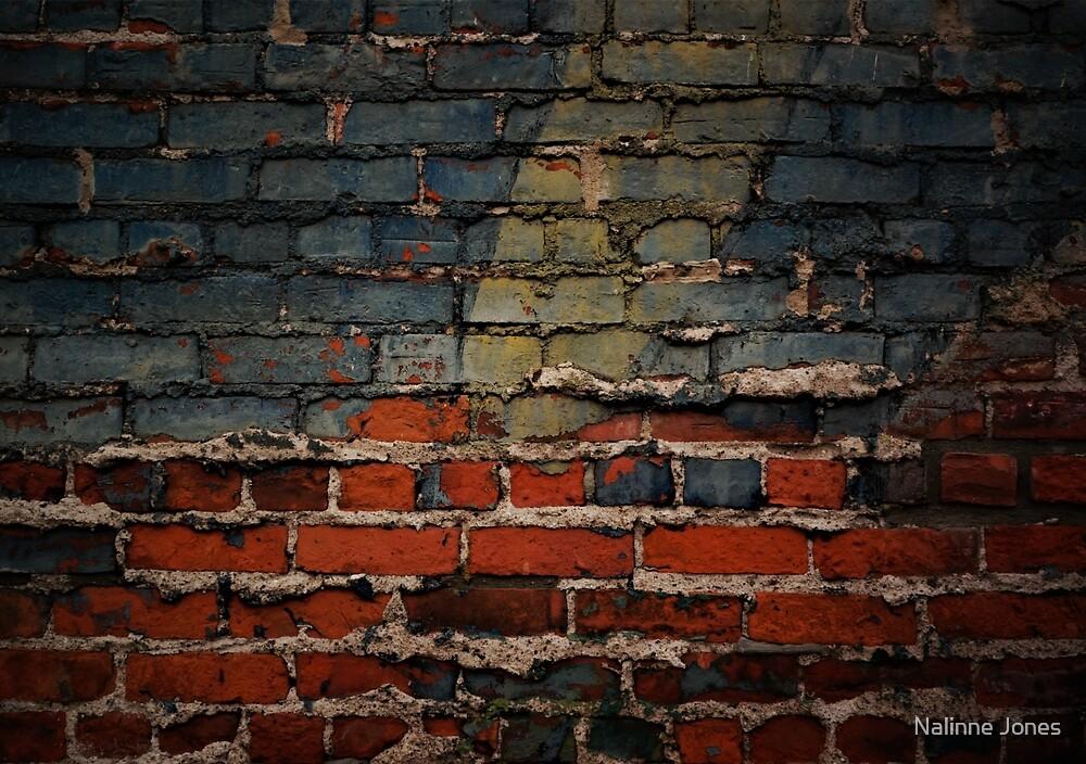 Detroit Brick and Mortar Graffiti  by Nalinne Jones