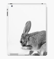 Balck & White Bunny Rabbit Photo iPad Case/Skin