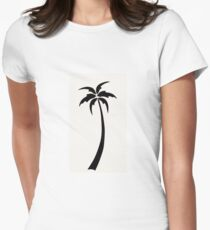 Palm tree  Women's Fitted T-Shirt