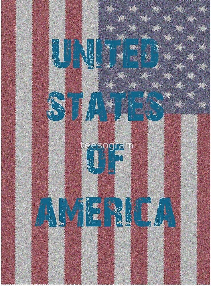 Patriotic FlagT-shirt Best Seller Series , United States Of America by teesogram