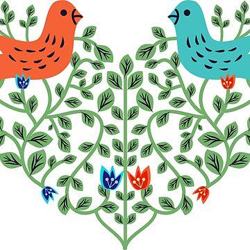 Birds by elyomys