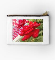 Rose with flag in background Studio Pouch