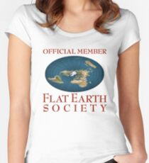 Flat Earth Society Women's Fitted Scoop T-Shirt