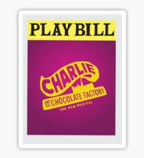 Charlie and the Chocolate Factory Playbill Sticker