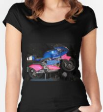 Britten Race Motorcycle Women's Fitted Scoop T-Shirt