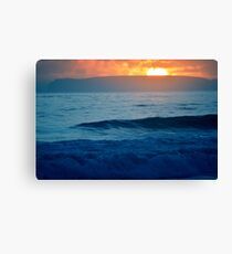 Sea at sunset in California Canvas Print