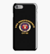 USS Independence (CV/CVA-62) Crest for Dark Colors iPhone Case/Skin