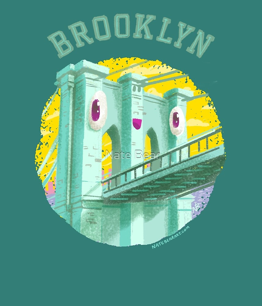 Happy Brooklyn Bridge by Nate Bear