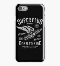 Super Plug  -  Born To Ride iPhone Case/Skin