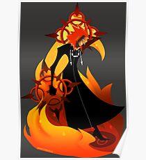 Fiery Axel Poster