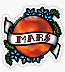 Mars, I shall always love you Sticker