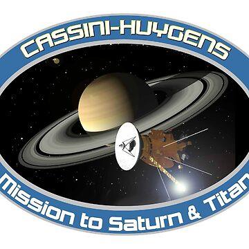 Cassini–Huygens Program Logo by Spacestuffplus