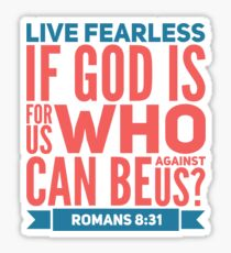 Live Fearless Inspirational Quote Sticker