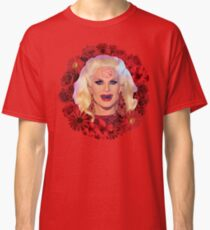 Satanic Katya Zamolodchikova With Flowers - Rupaul's Drag Race Classic T-Shirt
