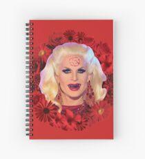 Satanic Katya Zamolodchikova With Flowers - Rupaul's Drag Race Spiral Notebook