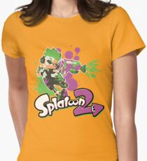 Splatoon 2 Inkling Boy Womens Fitted T-Shirt
