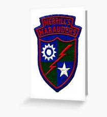 Merrill's Marauders Logo Greeting Card