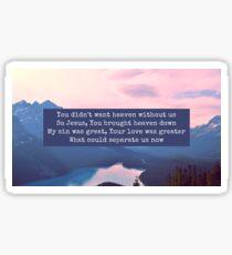 hillsong lyrics Sticker