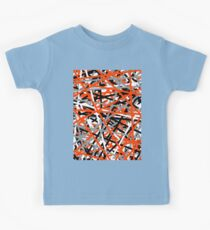 Orange Criss Cross Kids Clothes